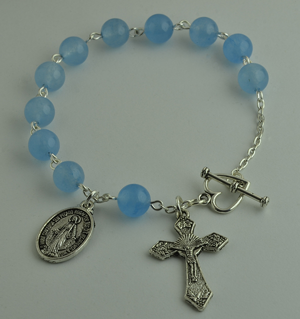 25c7e85ca ... Rosary Chain Link Bracelet. (Please always check wrist size before  ordering. Can be custom made to fit different wrist sizes.)