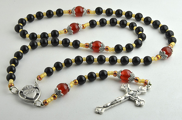 Dedicated to the Sacred Heart of Jesus, this rosary has been designed